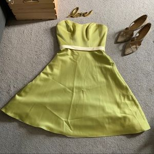 Alfred Angelo Formal Strapless Lime Dress Sz 4